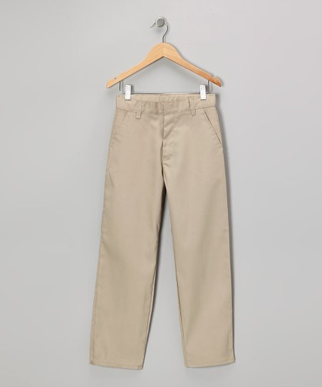 Khaki Pleated Pants - Boys