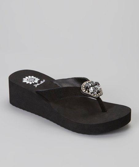 Black Cairo Wedge Sandal