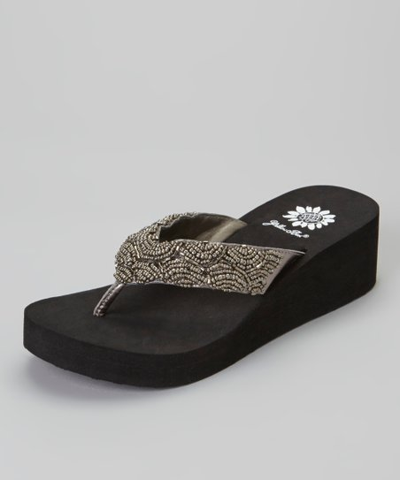 Pewter Lilo Wedge Sandal