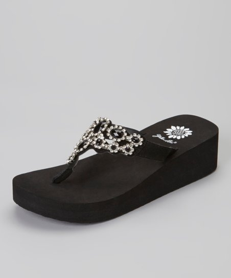 Black Tatum Wedge Sandal