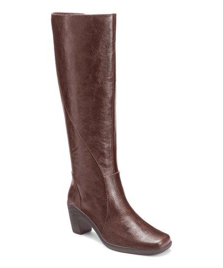 Brown Seersawcker Wide Calf Boot