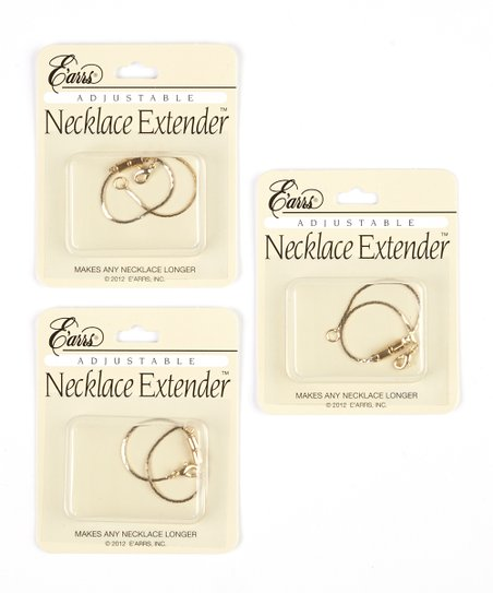 Gold Adjustable Necklace Extender - Set of Three