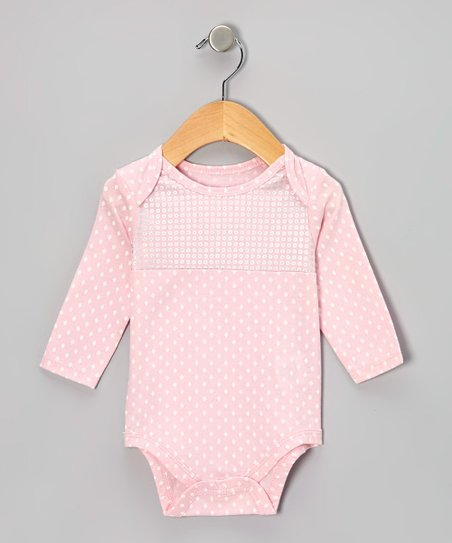 Light Pink Disco Dot Bodysuit - Infant
