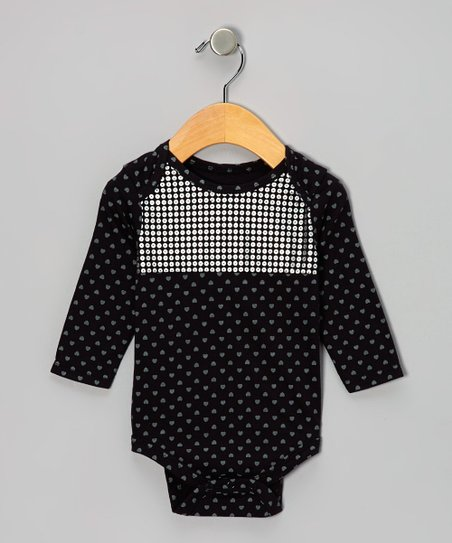 Black Disco Dot Bodysuit - Infant