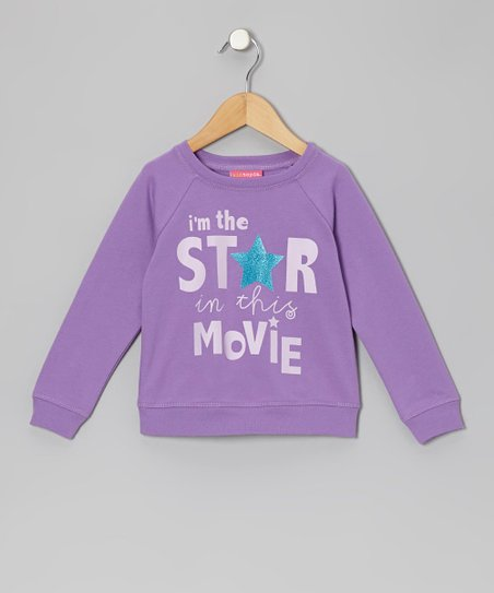 Purple Movie Star Sweatshirt - Infant & Girls