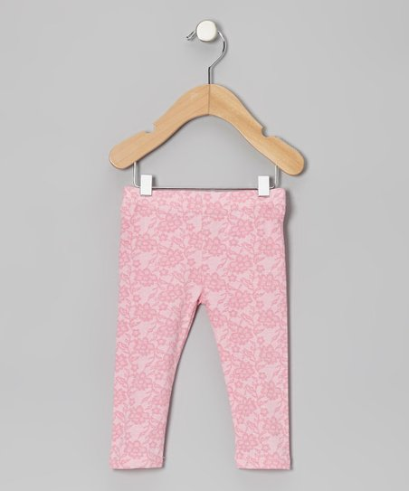 Light Pink Floral Leggings - Infant, Toddler & Girls