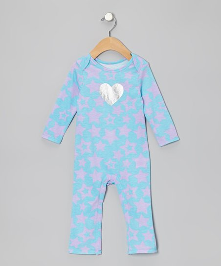 Turquoise Star Heart Playsuit - Infant