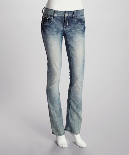 Medium Faded Wash Flare Jeans