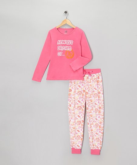 Carnation 'Always Dream' Pajama Set - Girls