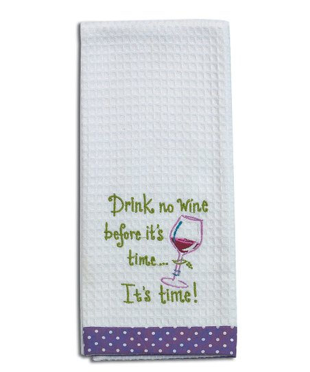 Kay Dee Designs 'Drink no Wine' Kitchen Towel - Set of Two
