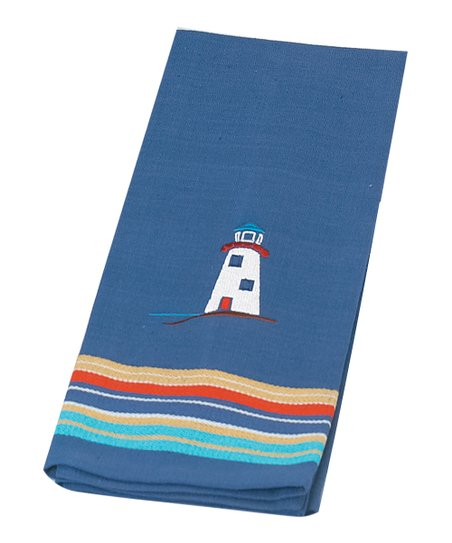 Lighthouse Embroidery Tea Towel