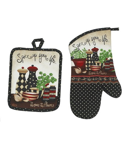 Kay Dee Designs &#039;Spice up Your Life&#039; Pot Holder &amp; Oven Mitt