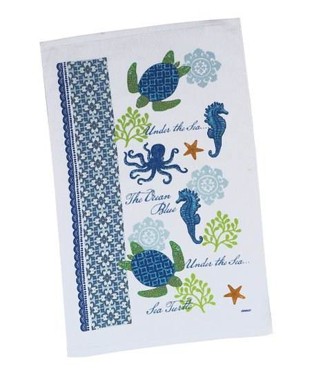 Sea Turtle Dish Towel - Set of Two