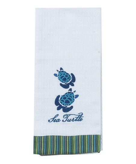 Sea Turtle Waffle Dish Towel - Set of Two