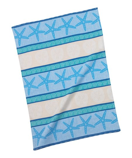 Blue Shell Tea Towel - Set of Two