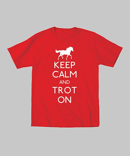 Red 'Keep Calm and Trot On' Tee - Toddler & Kids
