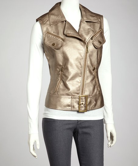 Bronze Metallic Vest
