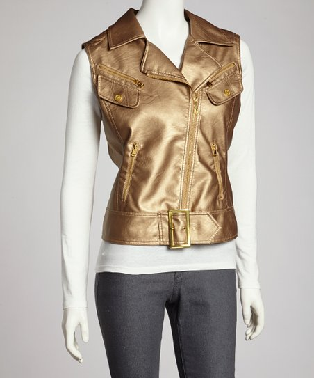 Gold Metallic Vest