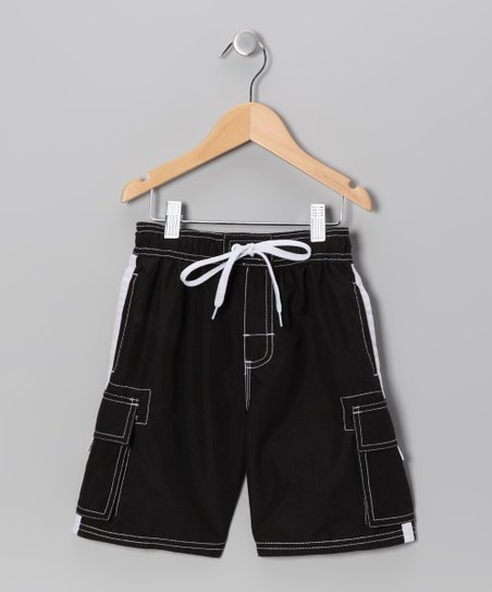 Black Swim Trunks - Boys