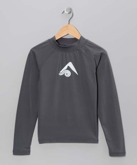 Charcoal Platinum Rashguard - Boys