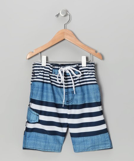 Navy Islander Swim Trunks - Boys