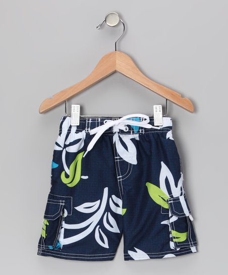 Navy Oahu Swim Trunks - Infant