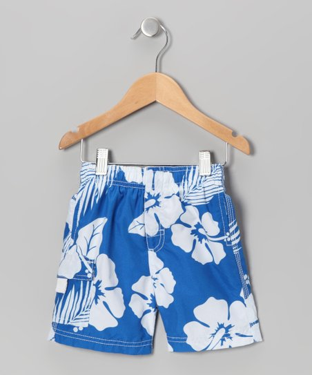 Royal Hibiscus Swim Trunks - Boys