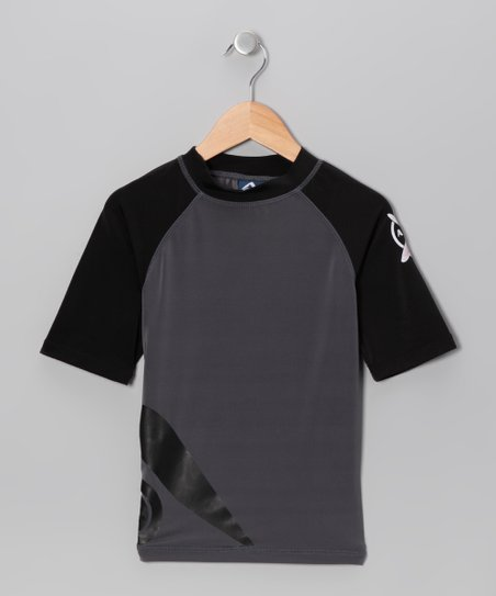 Charcoal Momentum Rashguard - Toddler & Boys