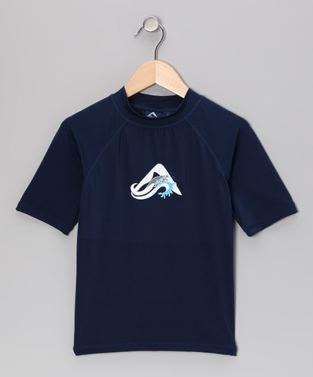 Navy Oahu Rashguard - Toddler & Boys