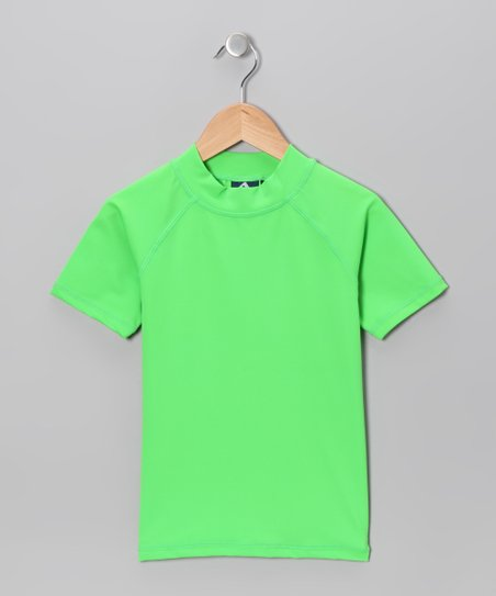 Neon Green Rashguard - Toddler & Girls