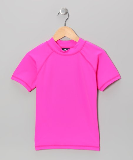 Neon Pink Rashguard - Toddler & Girls