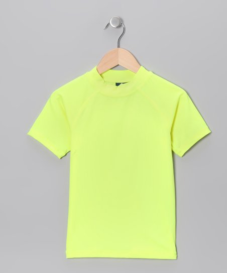 Neon Yellow Rashguard - Toddler & Girls