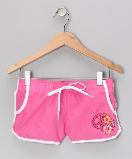 Pink Savannah Boardshorts - Girls
