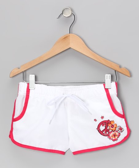 White Savannah Boardshorts - Girls