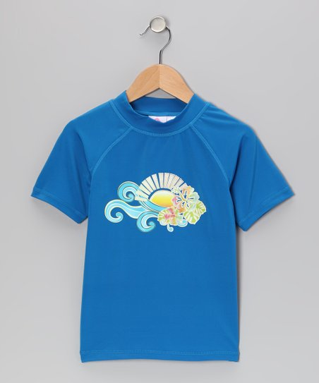 Blue Florence Rashguard - Toddler & Girls