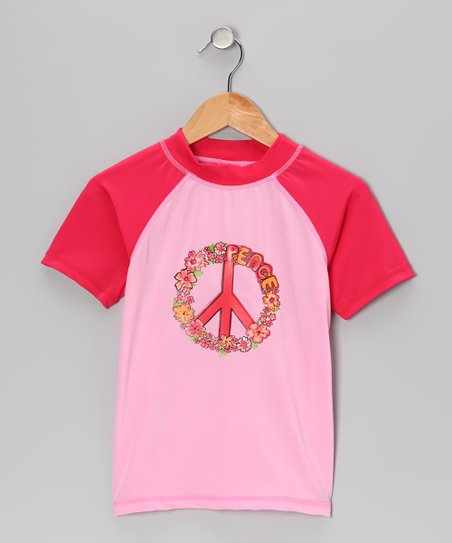 Pink Savannah Rashguard - Toddler & Girls