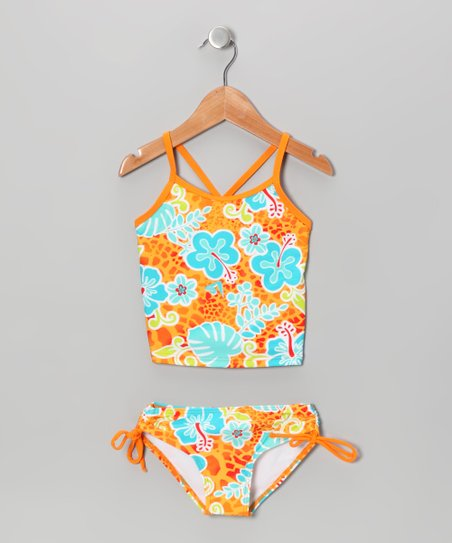 Orange Paris Tankini - Toddler & Girls