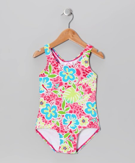 Pink Island One-Piece - Toddler & Girls