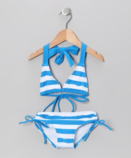 Blue Stripe Bikini - Infant