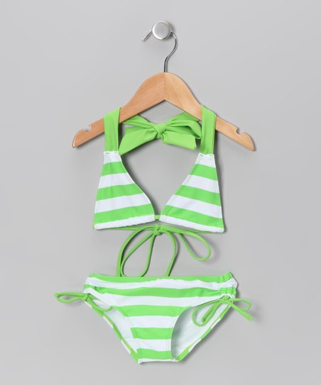 Green Stripe Bikini - Infant