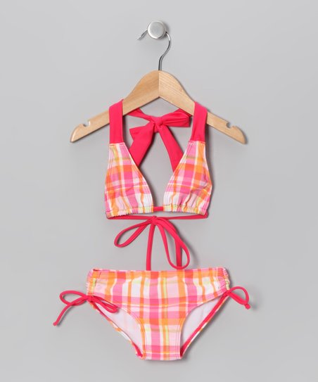 Pink Plaid Bikini - Toddler