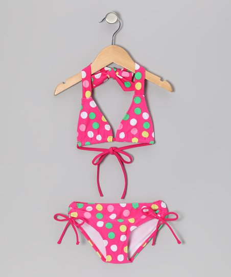 Pink Polka Dot Nice Bikini - Toddler & Girls