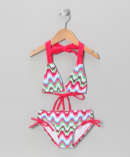 Orange Zigzag Bikini - Infant, Toddler & Girls