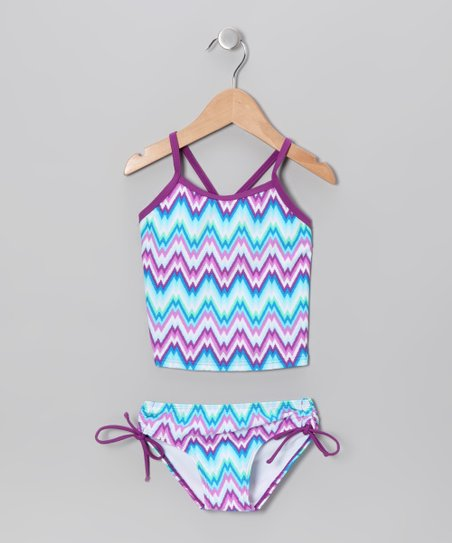 Blue Zigzag Tankini - Infant & Toddler