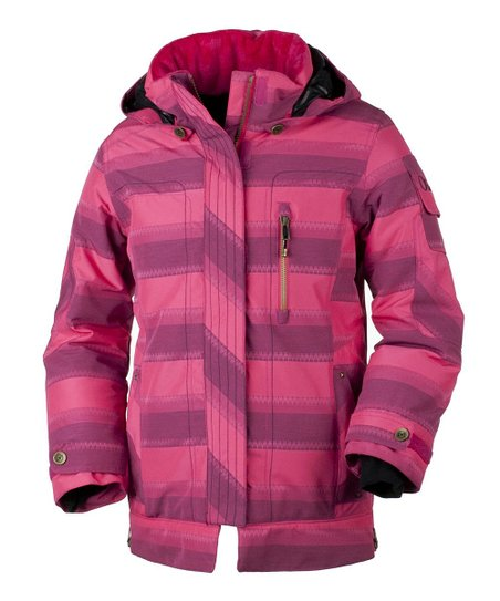 Hibiscus Stripe Jacquard Iconic Jacket - Girls