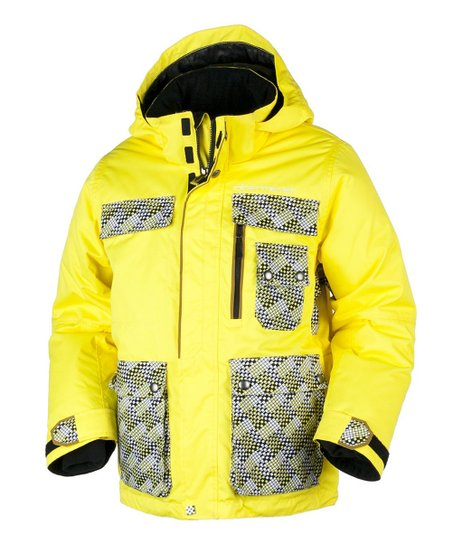 Acid Yellow Field Jacket - Boys