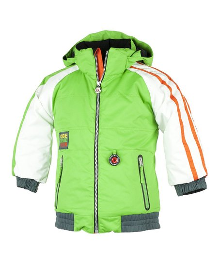 Pro Green Slopestyle Jacket - Boys