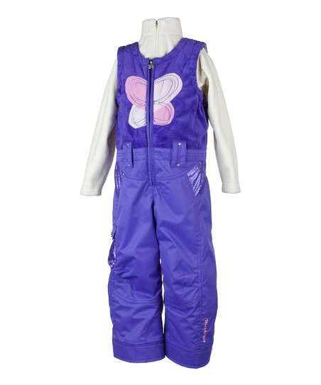 Grape Love Bib Pants - Toddler & Girls