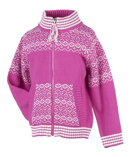 China Pink Nordic Zip-Up Sweater - Toddler & Girls