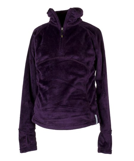 Plum Furry Fleece Top - Girls